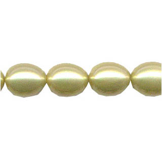 SHELL PEARL DESIGN BEADS12X15 OVAL