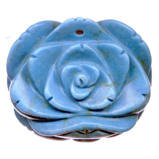 ROSE 35X40MM SYNTHETIC TURQUOISE