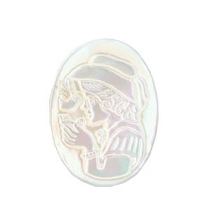 WHITE SHELL CAMEL 22X30MM D