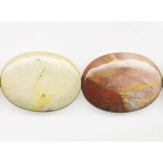 AFRICAN AGATE FLAT OVAL 18X25MM