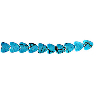SYNTHETIC TURQUOISE HEART 06MM