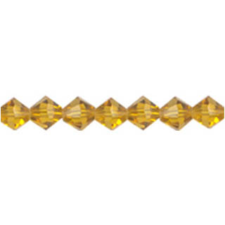 GLASS FACETED DIAMOND 04MM TOPAZ