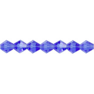 GLASS FACETED DIAMOND 06MM BLUE