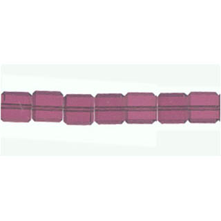 GLASS FACETED SQUARE 06MM LILAC (10 Strs)