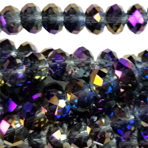 12MM FACETED RONDELLE RAINBOW MONTANA