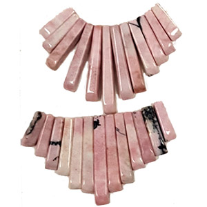 RHODONITE 13 PCS FAN