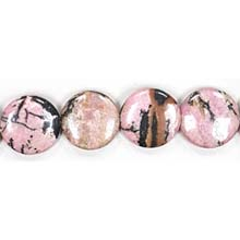 RHODONITE DISC 20MM