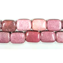 NEW RHODONITE RECTANGLE 15X20MM