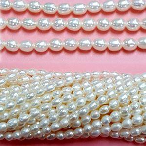 FRESHWATER PEARL RICE 3-4 MM WHITE