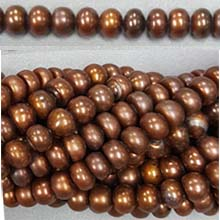 ROUNDEL DARK BROWN 7-8MM