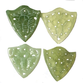 JADE SMALL PENDANT BUTTERFLY 28X30MM GREEN(4 PCS)