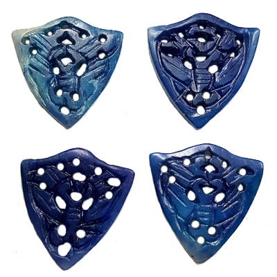 JADE SMALL PENDANT BUTTERFLY 30X32MM BLUE (4 PCS)