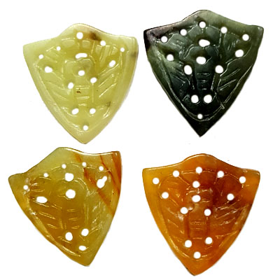 JADE SMALL PENDANT BUTTERFLY 30X32MM MULTI (4 PCS)