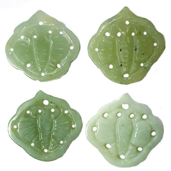JADE SMALL PENDANT BUTTERFLY 28X30MM GREEN (4PCS)
