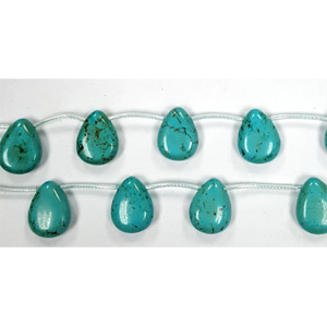 STABLIZED TURQUOISE PEAR 13X18MM SIDE DRILL