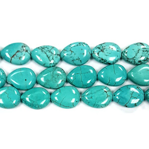 STABLIZED TURQUOISE PEAR 13X18MM