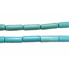 STABLIZED TURQUOISE TUBE 4X13MM