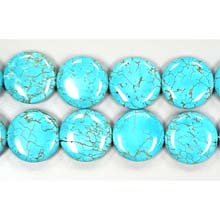 STABLIZED TURQUOISE COIN 25MM