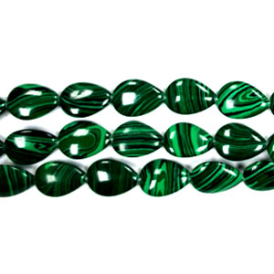 SYNTHETIC MALACHITE PEAR 13X18MM
