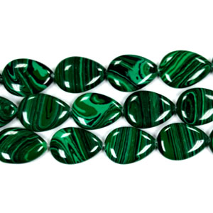 SYNTHETIC MALACHITE PEAR 18X25MM