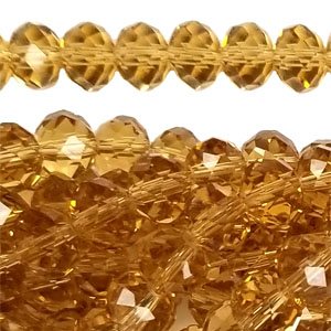 14MM FACETED RONDELLE TOPAZ