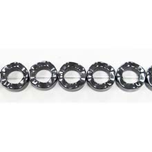 HEMATITE DONUTS WAVE 13MM
